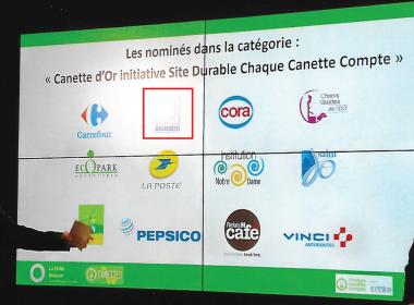 Les LOGO des nominées sont projetés à l'écran, dont celui de la ville d'Argenteuil ! Regardez un peu les concurrents ...
