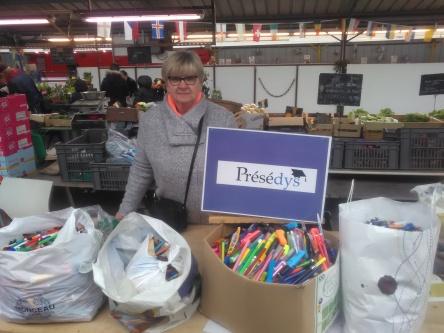 Collecte de stylos recyclables